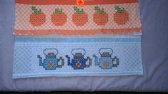Bordado em tecido xadrez - Amostras de Barradinhos (Detalhes sobre o bordado... Visitar)
