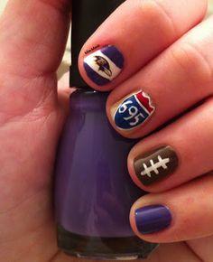 Baltimore Ravens Nails - Week 14 - Beltway Nails