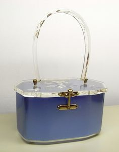 Charles S Kahn blue lucite purse.from my collection
