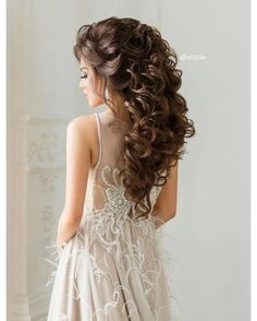 60 Simple Curly Hairstyles For Bride Hairstyles Over 50, Older Women Hairstyles, Crown Hairstyles, Bride Hairstyles, Pretty Hairstyles, Hairdo Wedding, Wedding Hairstyles For Long Hair, Mother Of The Bride Hairdos, Victorian Hairstyles