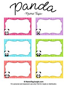Name Tag Template Free Printable . 28 Inspirational Name Tag Template Free Printable . 47 Free Name Tag Badge Templates Template Lab Name Tag Templates, Label Templates, Templates Printable Free, Free Printables, Christmas Gift Tags Template, Panda Names, Name Tag For School, Printable Name Tags, Nametags For Kids
