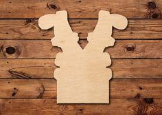 Santa In Chimney Wood Blank Wooden Cutout Door Hanger Personalized Football, Wooden Cutouts, Wood Burning Art, Christmas Decorations To Make, Tis The Season, Door Hangers, Bamboo Cutting Board, Snowman, Santa