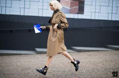 air born! I would be too if I had those Balenciagas on my feet. #ElenaPerminova in London. #Le21eme