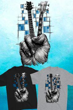 64ed648bb0ad #guitartshirts #guitarshirt #fretboard #cooltshirts Fantasy Art Men, Cool  Guitar, Cool. Spiffy Dog Tees