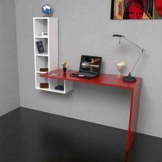 home made furniture Home Office Design, Interior Design Living Room, Office Decor, Study Table Designs, Home Furniture, Furniture Design, Office Interiors, Wall Shelves, Room Decor