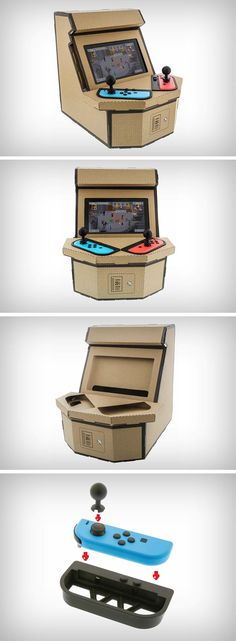 The Pixelquest comes made out of cardboard, like all of Nintendo's Labo accessories, but rather than transforming your handheld gaming device into an instrument, a mecha, or a moving toy, the PixelQuest takes you back in time to an era where gaming devices were large boxy cabinets with eye-level screens and controls that could withstand the abuse of an angry young teenage boy.