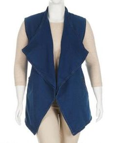 Women's Plus Size French Terry Vest