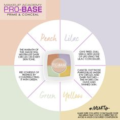 MUA Pro-Base prime & Conceal colour wheel. How to apply concealer.