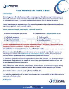 Carta para complementar el registro del curso antes del 5 de noviembre.