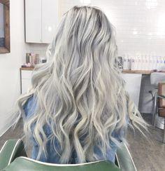 Icy blonde blonde hair at home, grow natural hair faster, hair color 20 Silver Blonde Hair, Icy Blonde, Platinum Blonde Hair, Love Hair, Gorgeous Hair, Silver Ombre Hair, Balayage Blond, Hair Dye Colors, Dream Hair