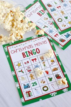 Christmas Movie Night Bingo