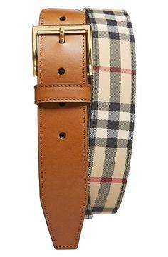 Men's Burberry 'Cleydon' Horseferry Check Belt