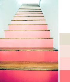 ombre stairs on design sponge. Thanks Mom!