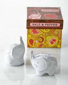 Elephant Salt & Pepper Shakers by Jonathan Adler at Neiman Marcus.