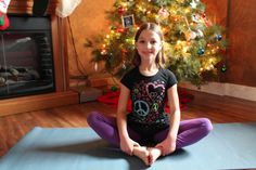 Blog: Kids Holidays and Yoga: Five calming yoga poses for the holidays.    With the excitement of the holidays, combined with travel, visitors, schedule changes and a greater focus on material things, kids can sometimes find themselves overwhelmed and out of sorts.  If you find that your children need a few moments to recuperate during the holidays, encourage them to try these 5 yoga poses for kids to help return them to a lovely calm!  During the holidays and all year round!