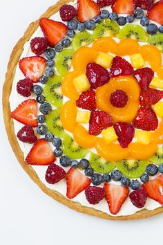 After many years of blogging I think it's due time that I share a fruit pizza recipe. Besides what better way to start the summer off (even though it's not