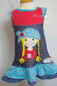 Home decoration is one of the most important elements that help you to define the… Hand Embroidery Designs, Sewing For Kids, Little Girls, Upcycle, Applique, Girls Dresses, Handmade, Clothes, Women