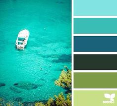 Dreamy seaside palette