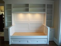 I wouldn't do the trundle bed but the shelves are really nice!