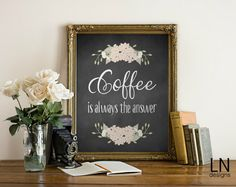 Instant 'Coffee is always the Answer' Wall by mylovenotedesigns