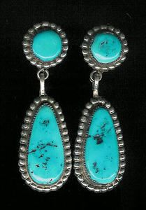 "Posted as ""Zuni turquoise earrings"" these might be Navajo made."