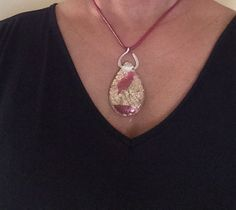 Beautiful teardrop pendant, easily transitions from the office to a night on the town.