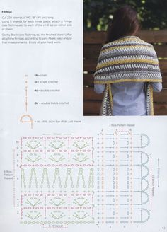 Image Article – Page 1688918597883129 One Skein Crochet, Crochet Art, Crochet Poncho, Crochet Scarves, Free Crochet, Crochet Stitches, Shawl Patterns, Crochet Patterns, Crochet Diagram