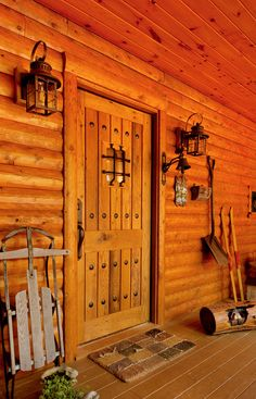Image result for rustic cabin front doors   Log Home Decor ...