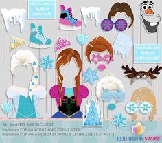 SALE Limited Time!!! Frozen Party Photo Booth Props, Princess Anna Elsa Olaf Party Photo Props par IraJoJoBowtique sur Etsy https://www.etsy.com/ca-fr/listing/229395337/sale-limited-time-frozen-party-photo