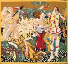 Tapisserie d'Aubusson d'après un carton   de Maurice Brianchon : « Les musiciens »