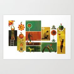 Community Garden Art Print by Andrew Lyons - $17.68