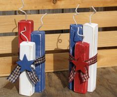 Reclaimed Wood Firecracker Decor