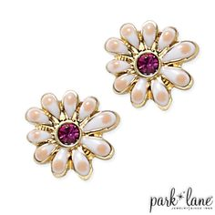 Daisy Pierced Earrings | Park Lane Jewelry contact me by email, kodofficegmailcom, for discounts and freebies!