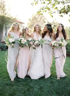 Bridesmaid dress idea; Featured Photographer: Jose Villa