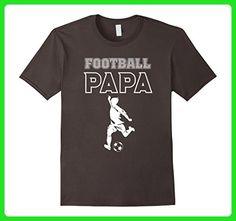 Mens Football Papa Shirt - Soccer Papa T-shirt, Father Day Gifts XL Asphalt - Sports shirts (*Amazon Partner-Link)