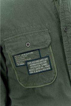 AERONAUTICA MILITARE CAMICIA M.L. - Shirts - MEN Cargo Shirts, Cut Shirts, Boys Shirts, Casual Shirts For Men, Men Casual, Clothing Packaging, Fashion Typography, Mens Designer Shirts, Denim Shirt Men