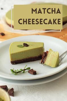 Cheesecake for your thoughts? Matcha Tea Powder, Matcha Cake, Green Cake, Organic Matcha, Tea Cakes, Yummy Cakes, Fun Desserts, Tea Party