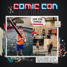 Disney Star Wars Comic Con digital scrapbook layout using Project Mouse (Galaxy) by Brittish Designs and Sahlin Studio