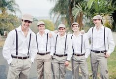If you are ok with having the groomsmen look a bit more playful, these hats are a fun option! My Bellissima | NJ & NYC Wedding Planner