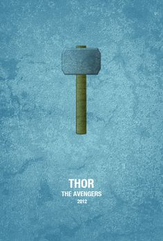 Avengers Minimalist Movie Poster - Thor. - Visit to grab an amazing super hero shirt now on sale!