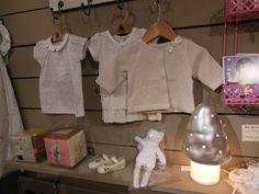 Petit Bateau clothes and silver mushrom light. ©  Bouton de Soie | kidstore - Lourmarin, FRANCE