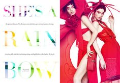 Colorful Anime-Like Editorials - The Harper's Bazaar Australia December 2013 Photoshoot is Pla (GALLERY)