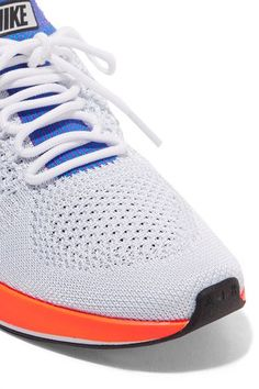 Nike - Air Zoom Mariah Leather-trimmed Flyknit Sneakers - White 3f730baec