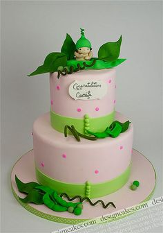 Pea in the pot baby shower cake by Design Cakes, via Flickr