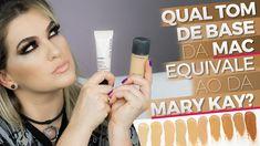 Este é um vídeo de utilidade pública! Alice Salazar faz um comparativo de tons de base entre as marcas Mary Kay e Mac, para encontrar o tom perfeito para sua pele.
