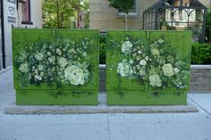 Flower murals on telephone utility boxes 403_1090296 by bricoleurbanism, via Flickr