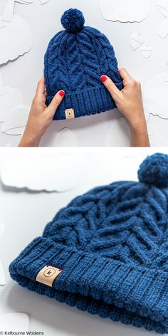 Warm hats with an interesting design are a must-have during cold weather, especially winter. No matter if it's rain, snow or wind - a warm hat will Free Chunky Knitting Patterns, Beanie Knitting Patterns Free, Beanie Pattern Free, Free Knitting, Knitting Designs, Knit Patterns, Knit Hat For Men, Knitted Hats, Crochet