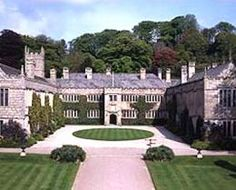 VIEW OF HOUSE FROM GATEHOUSE, LANHYDROCK,Cornwall