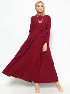 Kolyeli Elbise - Mürdüm - Jamila