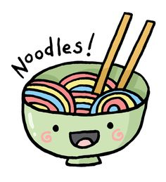 And now a break from normal recipes to bring you... cute noodles!